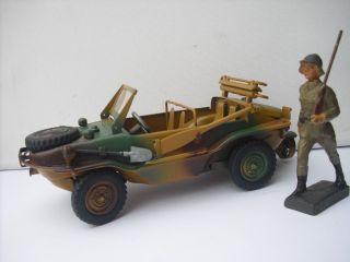 Lineol,  Gonio,  Vw Schwimmwagen,  Soldat Mit Fahrzeug Bild