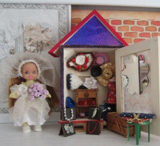 F.  Puppenstube / Puppenhaus / Kaufladen - Markt - Bude/stand - Mode - Boutique Bild