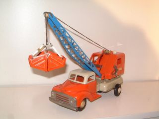 Gama Lkw - Kran - Bagger Aus Den 50.  Er Jahren Mit Schwungradantrieb Bild