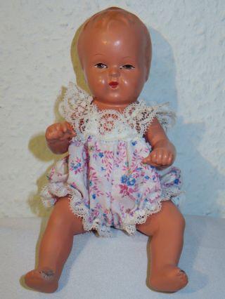 Alte Baby Puppe Von Esw Ernst Christian Wittig 20 Cm Ca.  40er/ 50er Jahre Bild