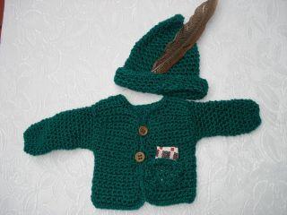 Puppenkleid - Trachtenjacke - Mit Hut - Puppenkleidung Bild