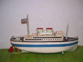 Blechschiff Boot Mit Uhrwerk Von Bing Bub Fleischmann MÄrklin Bild