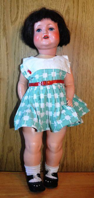 40erj.  Puppe,  Sonneberg,  Gem.  Sp 2966,  Originalerhaltung,  - Kleidung,  60cm,  Kunsthaar Bild