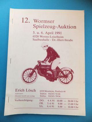 12.  Wormser Spielzeug 1991 Katalog 150 Seiten Eisenbahn Blech Bild