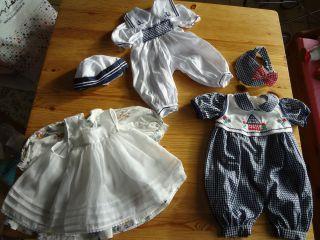 3x Puppenkleidung Altes Kleid Mit Schürze Für Z.  B.  Schildkröt Puppen U.  A. Bild