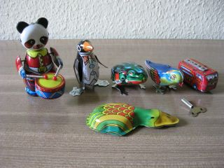 Blechspielzeug Konvolut 6tlg. Bild