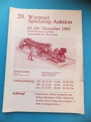 20.  Wormser Spielzeug 1993 Katalog 176 Seiten U.  A.  Eisenbahn Bild