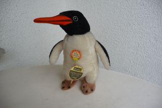 Alter Steiff Pinguin Charly Unbespielt 60iger Jahre Drehkopf Bild