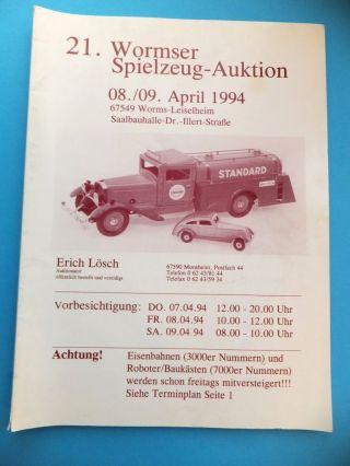 21.  Wormser Spielzeug 1994 Katalog 124 Seiten U.  A.  Eisenbahn Bild