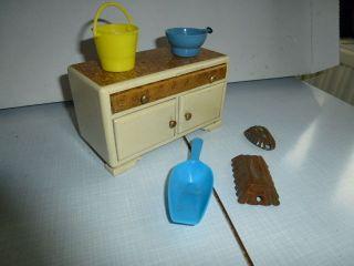 Kommode Schrank Puppenmöbel Crem Weiß Bild