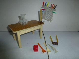 Tisch Küchentisch Puppenmöbel Crem Weiß Bild