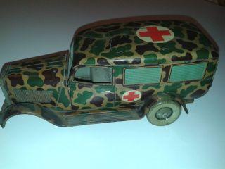 Tippco Krankenwagen Made In Germany 7 Cm Serie Wie Lineol Elastolin Fur Bastler Bild