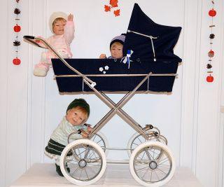 Puppenwagen Dunkelblau,  Vintage,  Ddr,  Zekiwa Bild