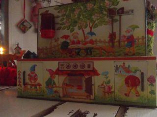 Blechspielzeug,  Puppenküche,  Nostalgie,  Shabby,  Vintage,  Zwerge Bild