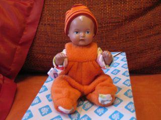 Süßes Schildkröt Strampelchen Puppe 16 Cm Mit - Puppenkleidung Orange Bild