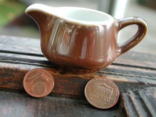 Milchkrug Puppenstube Tonzeug Küche Antik Alt Old Dollhouse Milk Pitcher Vintage Bild