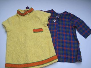 2 Puppenkleider Aus Den 60er Jahren Für Bastler/reparatur Bild