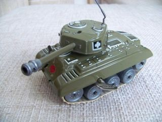 Top Gama Panzer M98 Uhrwerkantrieb 50er J.  Kompl.  Orginal M.  Schlüssel Tank Bild