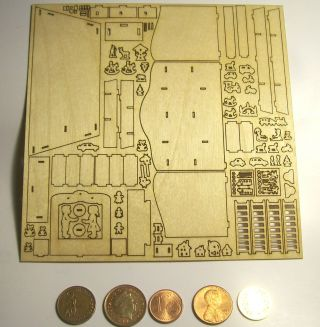 H58a Groß Toyshop Scale 1/144 Basteset Mini Miniaturas Miniatur Ab 5.  12. Bild