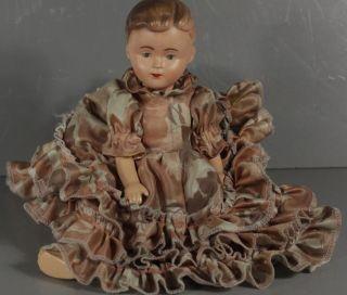 Puppe Gliederpuppe Beweglich Rüschenkleid Kleid 20er 30er 40er Jahre? Antik Bild