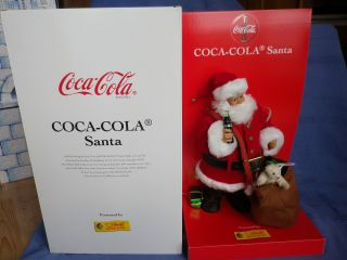 Steiff Coca - Cola Santa / Weihnachtsmann V.  1999 - Nr.  670350 - Neuwertig Bild