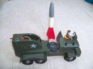 Strenco Lkw Mit Raketen Abschussrampe Ca.  50er Jahre Bild