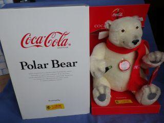Steiff Eisbär - Coca Cola - Polarbär - 35 Cm - Nr.  670336 - Limitiert - Neuwertig Bild
