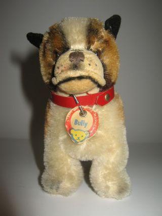 Steiff Hund Bully,  Mit Altem Steiffschild,  Ohne Knopf Und Fahne Bild