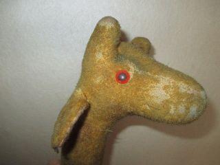 Altes Stofftier Giraffe - Spielzeug Ca.  54 Cm Hoch Bild