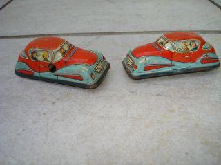 2 Alte Autos Aus Blech Blechspielzeug Bild