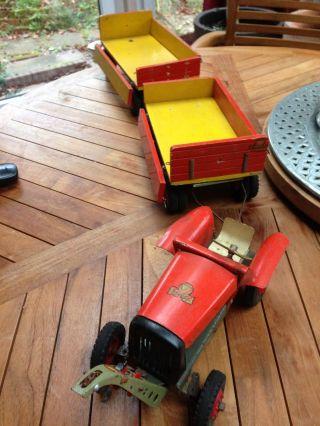 Steiff Traktor Trecker 2 Anhänger Seilwinde Rarität Bild