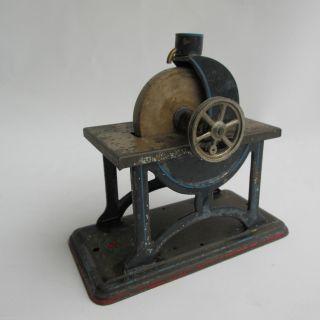 Doll&cie Blech Werkbank Schleifstein Dampfmaschinen Zubehör Mechanisch Um 1910 Bild