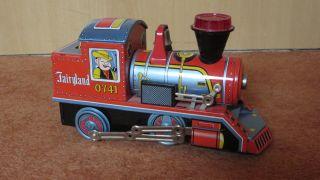 Lokomotive Aus Blech Fairyland 0741 Daiya - Batteriebetrieben - Defekt Bild