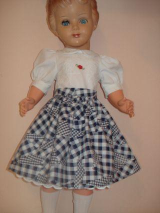 Puppenmode Puppenkleid 3 Tlg.  Für 70 Cm Puppe Rock,  Bluse Und Unterrock Bild