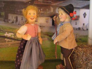 Entzückendes Anna Miklautsch Bauern Pärchen - ähnlich Der Elli Riehl Puppen Bild