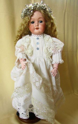 Antike Porzellankopfpuppe C M Bergmann 1916 Waltershausen 53 Cm Porzellan Puppe Bild