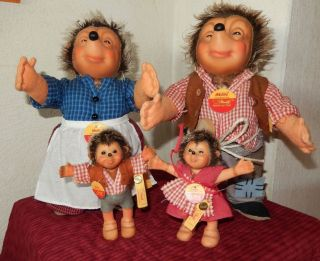 Steiff Mecki Familie Mit Mecki Micki Macki Mucki Sehr Gut Erhalten Nach Diehl - Fi Bild