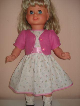 Puppenmode Elegantes Sonntagskleidchen Puppenkleid Mit Jacke Für 60 Cm Puppe Bild