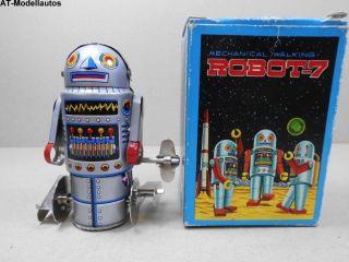 Blechroboter Robot - 7 9,  5 Cm Ovp Roboter Aus Blech Blechspielzeug Ma 01938 Bild