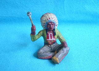 Elastolin Masse - Indianer - Figur,  Westernfigur,  Häuptling,  Trommler (ohne Trommel) Bild