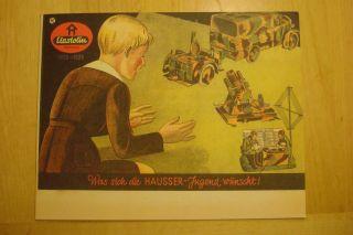 Elastolin Hausser Katalog 1935 / 36 Spielzeugkatalog Bild