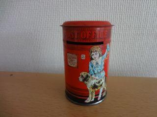 Blech Briefkasten Post Office Alt 60er Puppenhaus Puppen Kinder Dose Spielzeug Bild
