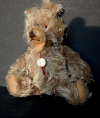 Hermann Teddy Mit Stimme Antik 20 Cm Teddybär Bear Sammlerbär Mohair Bild