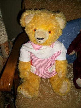 Niedlicher,  Gelber 57 Cm Großer,  Alter Teddybär Bild