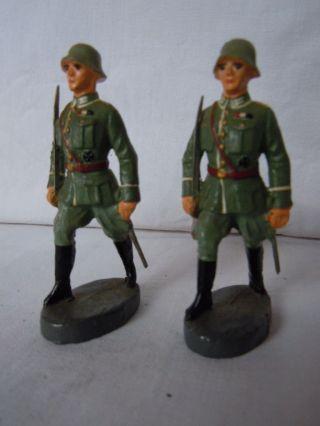 Lineol Elastolin 2 Wehrmachtsoffiziere In Marsch Von Elastolin Paradeoffiziere Bild