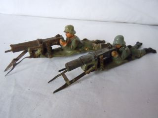 Lineol Elastolin 2 Deutsche Soldaten Infanterie Richtschützen Am Smg Von Lineol Bild