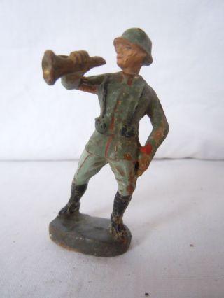 Lineol Elastolin Deutscher Infantrie Soldat Hornist Im Sturm Von Elastolin Bild