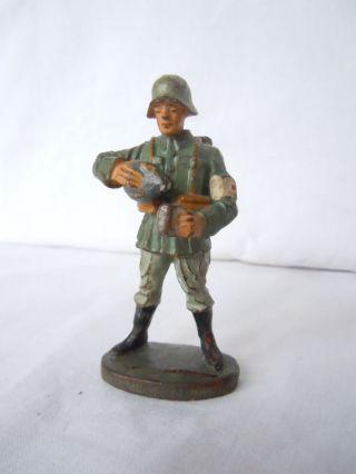 Lineol Elastolin Wehrmachtssoldat Sanitäter Mit Labeflasche Von Elastolin Top Bild