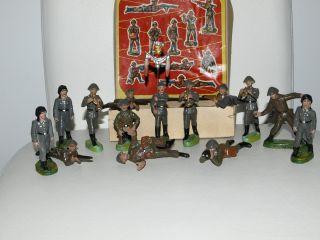 14 X Ddr Nva Massesoldaten Unbespielt,  Originalschachtel - Rar - Pgh Effelder Bild