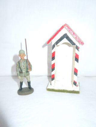 Lineol Elastolin Wehrmachtssoldat Infanterie Ehrenwache Gewehr über Elastolin Bild